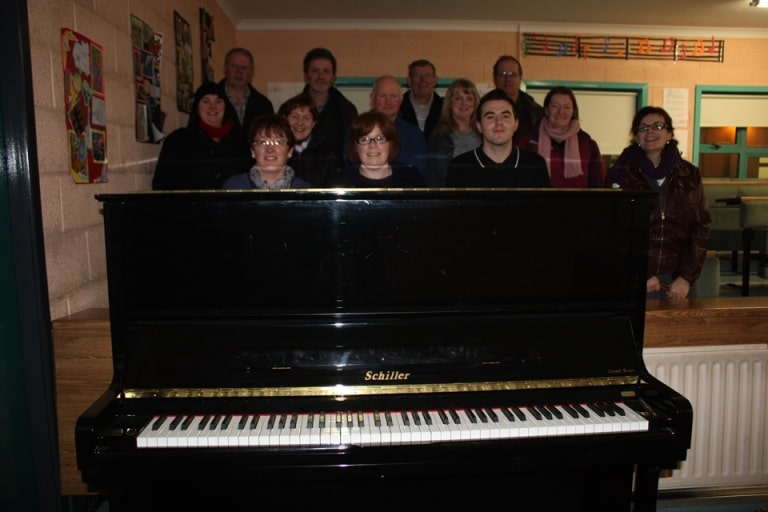 Parents' Council 2012 present a Piano to St. Fergal's College