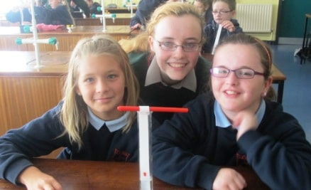 Emma Keane with sixth class students