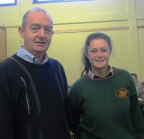 Mr O' Connor and Lisa Bowe