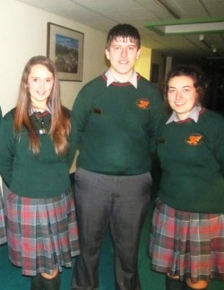 Prefects-Saoirse, Paul and Christine