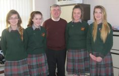 Mr Tom Hennessy (Manor Stone) with students at the recent launch of the Manor Stone Young Entrepreneur Competition in St Fergal's College