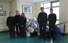 2nd Years CSPE students with Bags2School clothing collection 2016