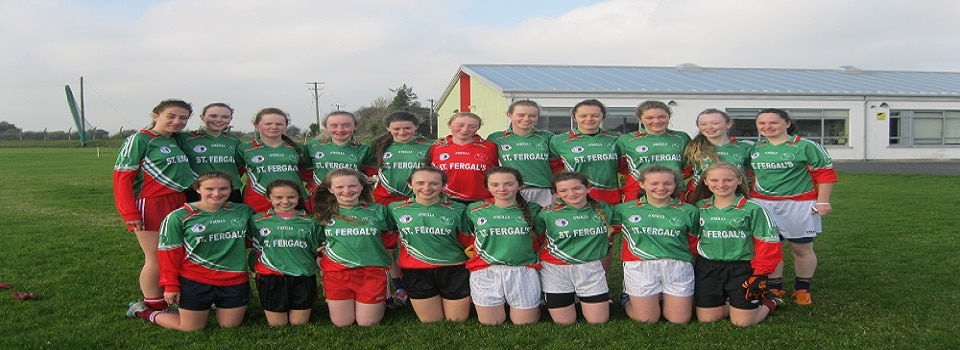 Girls Gaelic Football Team photo 2016 Banner Size